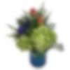 Bits of Blue Flower Arrangement